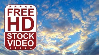 FREE HD video backgrounds – GoPro Hero 4 free footage blue sky with clouds sun set time lapse