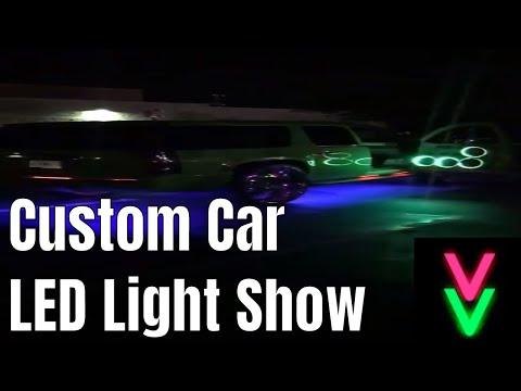 Custom Car LED Light Show Audio Reactive Addressable LEDs YouTube - Car light show