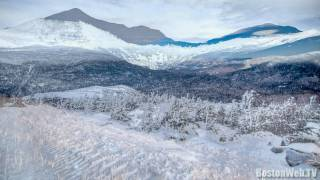 A winter drive up Mount Washington, New Hampshire
