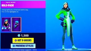 *NEW* Encrypted Skin SYNAPSE..! (Item shop Showcase) Fortnite Battle Royale