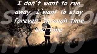 I don't wanna run away