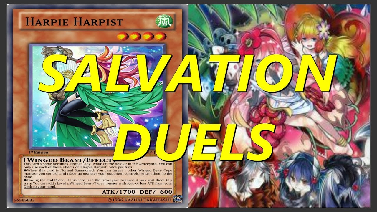 Yu Gi Oh Salvation Duels Harpie Lady And Traptrix Rafflesia Youtube