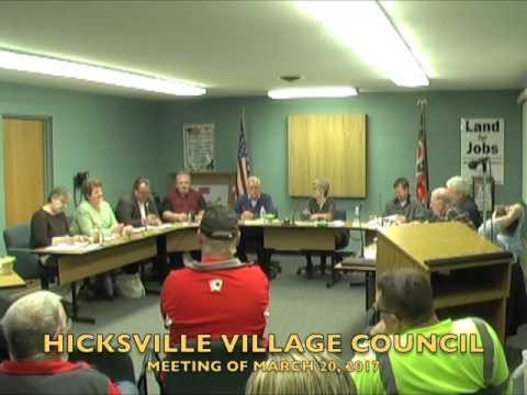 Hicksville Village Council Meeting 3-20-17