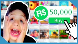 Buying 50,000 Robux in Roblox