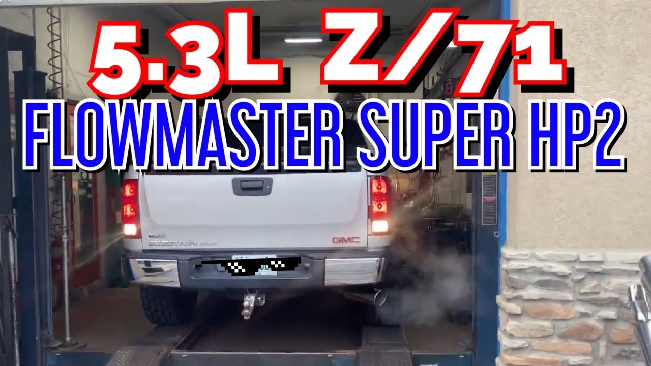 2009 GMC Sierra Z/71 5.3L V8 EXHAUST w/ FLOWMASTER SUPER HP2!