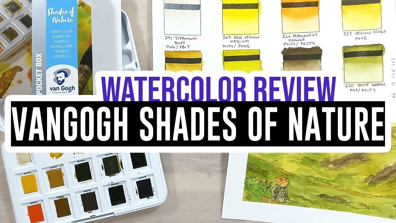 Review Demo Vangogh Shades Of Nature Watercolor Set Youtube