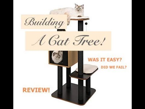 Vesper Cat Tree Unboxing // the struggle was real!