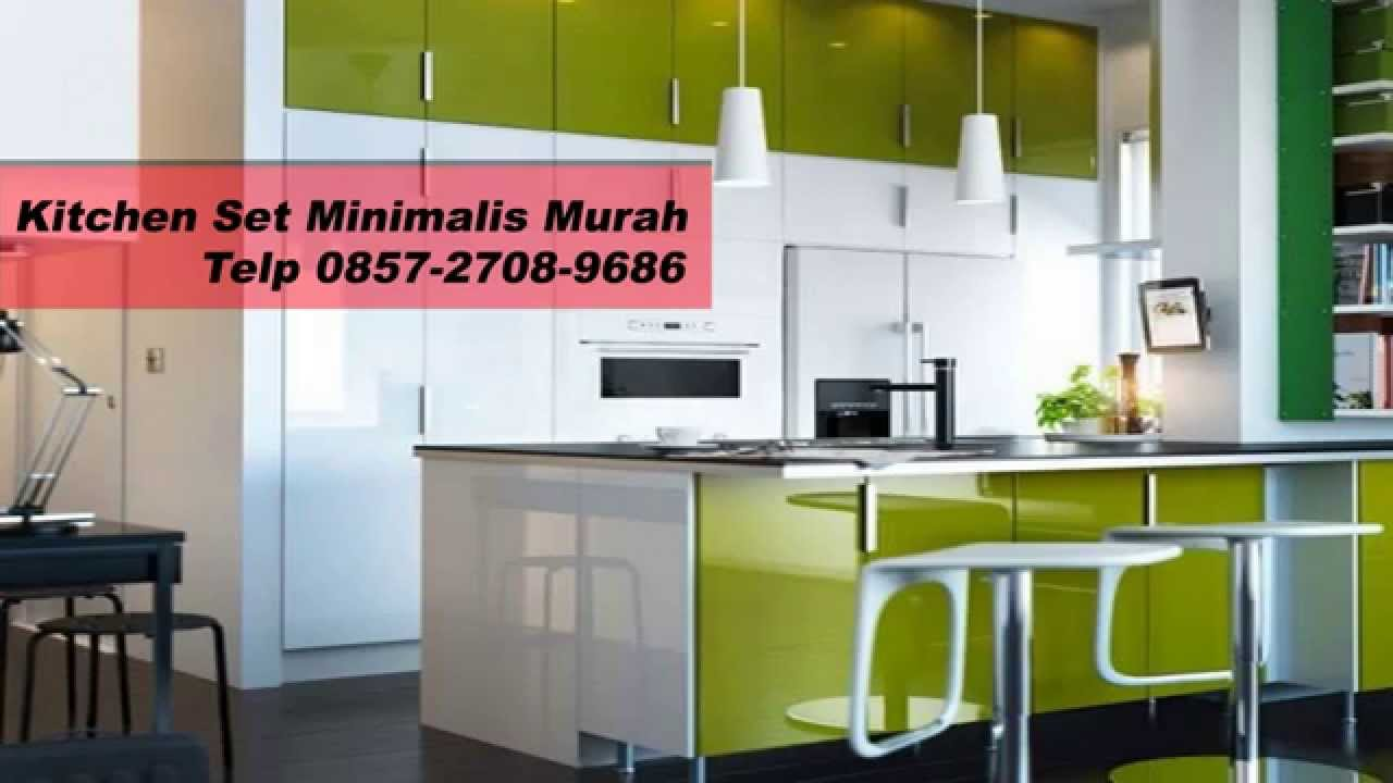 0857 2708 9686 harga lemari dapur minimalis kitchen for Kitchen set warna putih