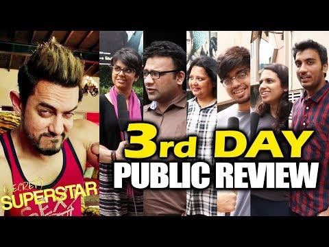Secret Superstar   3rd DAY (Saturday) PUBLIC REVIEW   Aamir Khan, Zaira Wasim