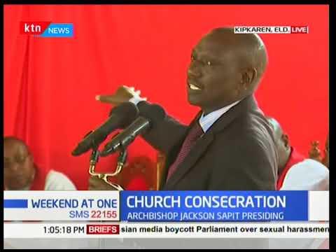Developing Story: DP Ruto among faithfuls attending ST Joseph ACK Church KipKaren Consecration