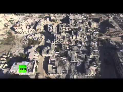 Новости Мира Сегодня Онлайн  Эксклюзивное видео из пригорода Дамаска  где проходят бои между сирийск