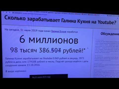 Доход ГАЛИНА КУХНЯ на ЮТУБЕ! Svetlana Müller
