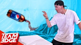 SODA Bottle Flip Challenge!!