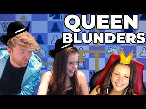 How many Queens can we blunder!? Twitch Clip Compilation