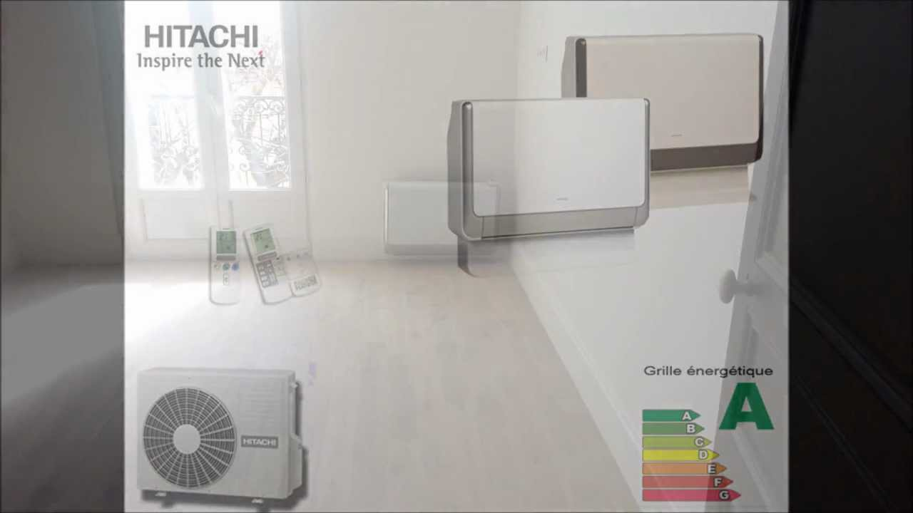 installation climatisation multisplit hitachi a. Black Bedroom Furniture Sets. Home Design Ideas