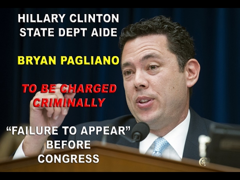 Hillary Clinton / State Dept. Aide Bryan Pagliano To Be Charged on Failure To Appear Before Congress