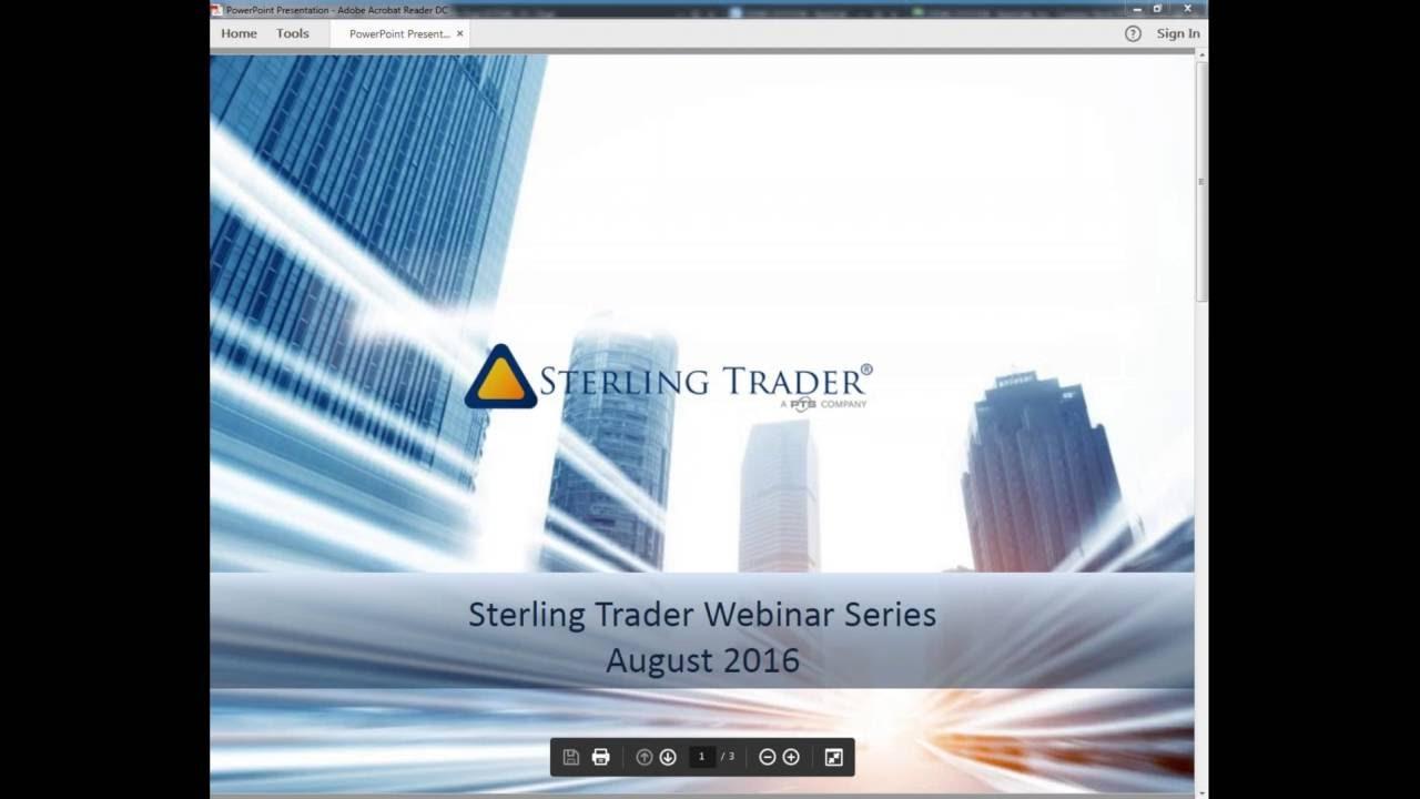 How to set up hot keys on sterling trader® pro trading platform.