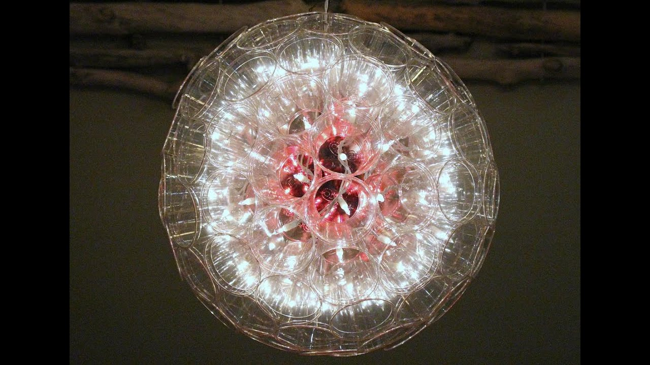 how to make a sparkle ball christmas sparkle ball christmas light ball from plastic cups youtube