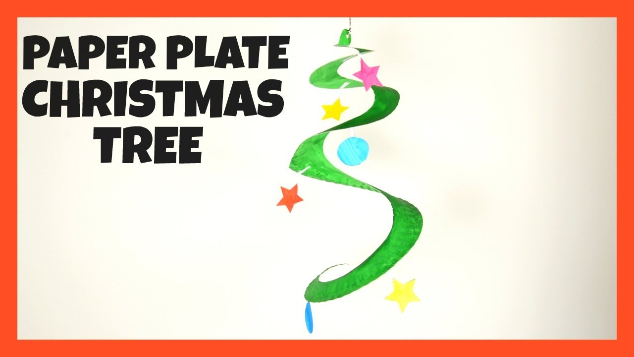 Swirling Paper Plate Christmas Tree Fun Christmas Crafts For Kids