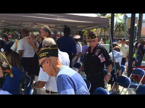 Memorial Day Ceremony in Miami Beach