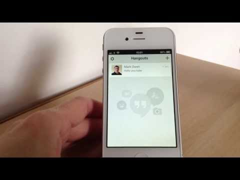 Hangouts the new app from Google for iPhone & Android  - YouTube