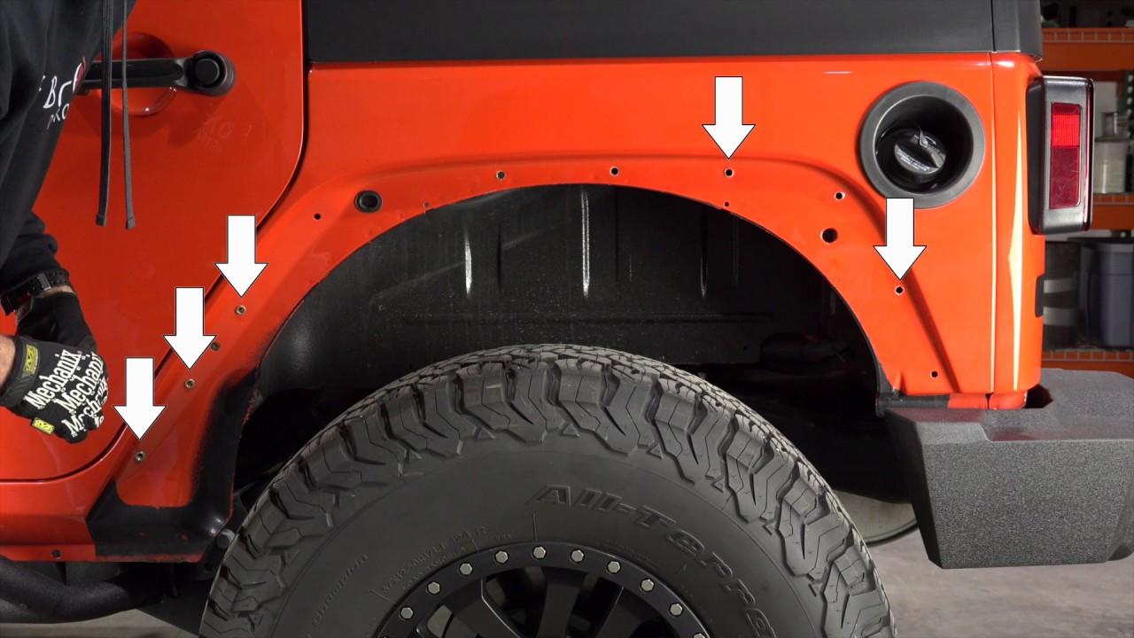 Fishbone Offroad Tube Fenders For Jeep Wrangler Jk Install Youtube