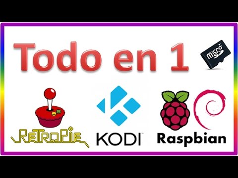 RetroPie Kodi Raspbian TODO EN 1. Triple boot !! PERFECT !! Raspberry Pi 2 y 3