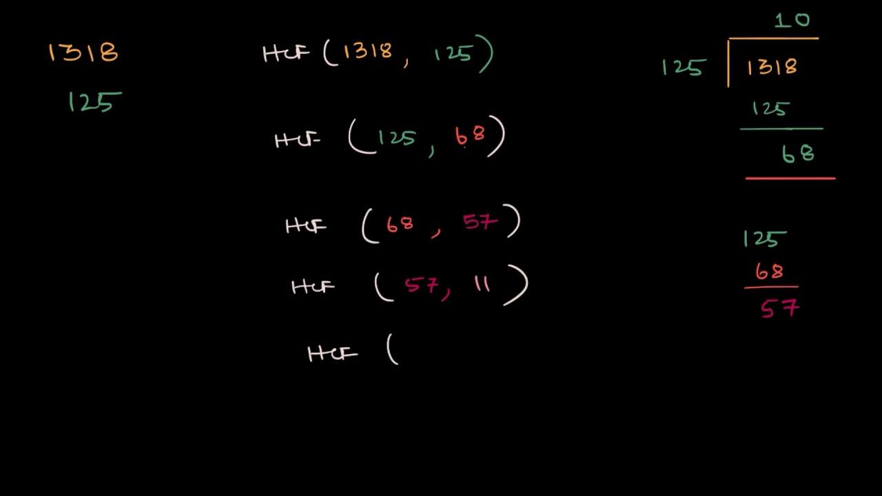 Example: Euclid's division algorithm
