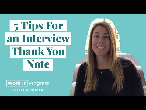 How To Write A Post-Interview Thank You Note (+ TEMPLATE For Thank You Note After A Job Interview)