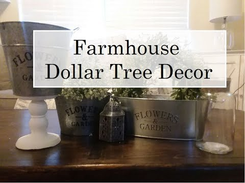 Top 5 Farmhouse Decor At The Dollar Tree | 2018