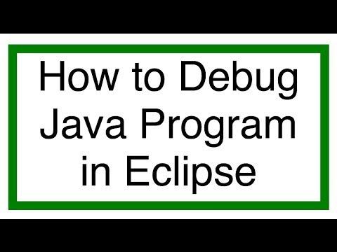 Eclipse Java Tutorial 9 - Debug Java Program