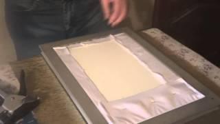 Мастер класс по оформлению вышивки бисером в рамку. Ч 2