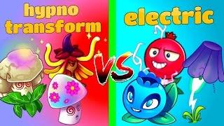 Plants vs. Zombies 2 Electric vs Hypno and Transform Plants