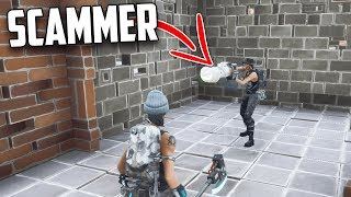 I let Scammers HOLD my WATER JACK O LAUNCHER... (Don't Try THIS) in Fortnite