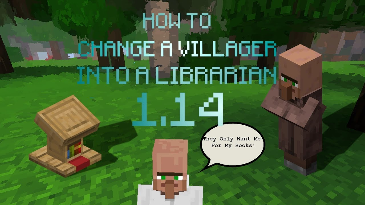 MINECRAFT 12.124 HOW TO CHANGE A VILLAGER INTO A LIBRARIAN