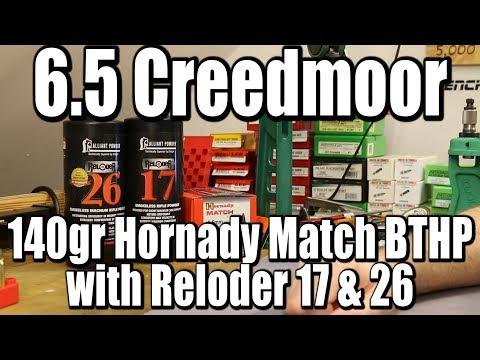 6 5 Creedmoor - 140gr Hornady Match BTHP with RL26 and RL17