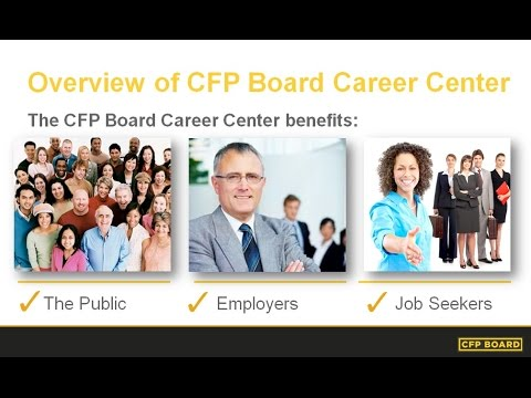 Overview of CFP Board's Career Center