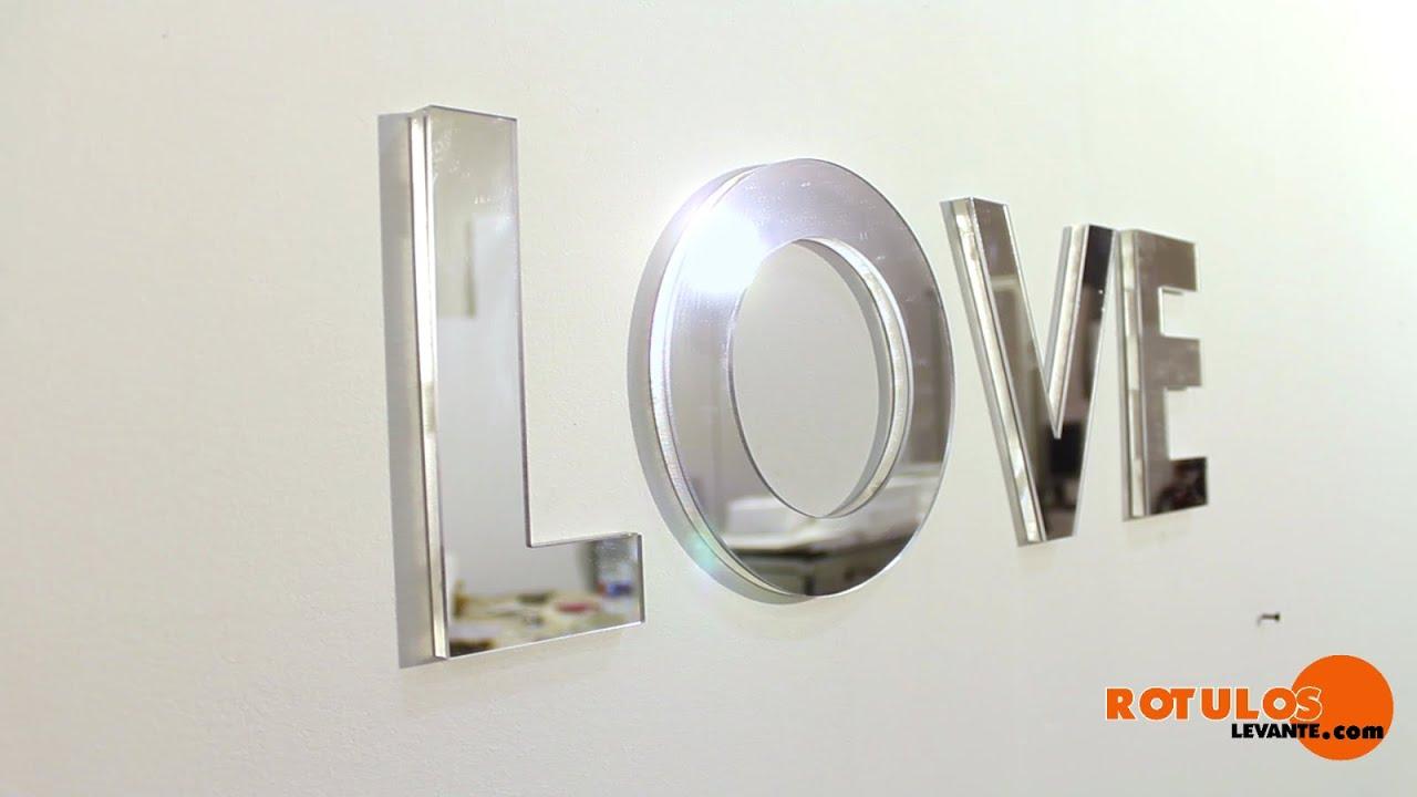 C mo montar letras corp reas de metacrilato con efecto - Pintaunas efecto espejo ...