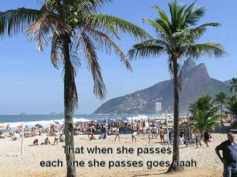 The Girl from Ipanema instrumental karaoke with lyrics