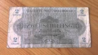 2 Schilling der Alliierten Militärbehörde von Österreich