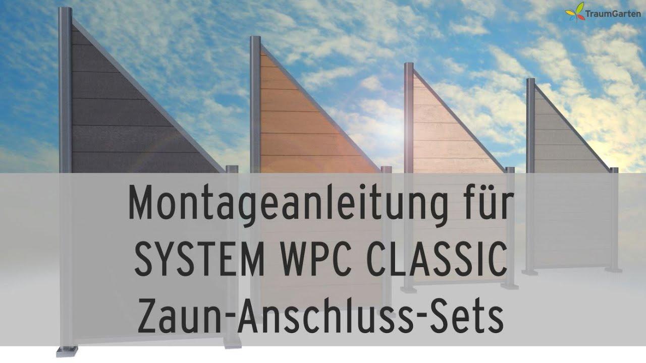 Zaun Aufbauen System Wpc Classic Anschlusselemente Traumgarten