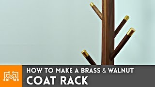 How to Make a Brass and Walnut Coat Rack // Woodworking & Metalworking