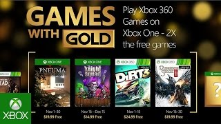 Double your Games with Gold in November
