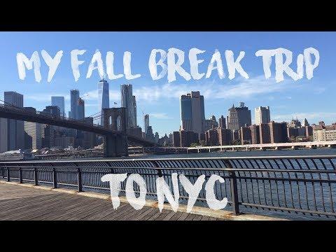 MY FALL BREAK AT YALE: NYC VLOG