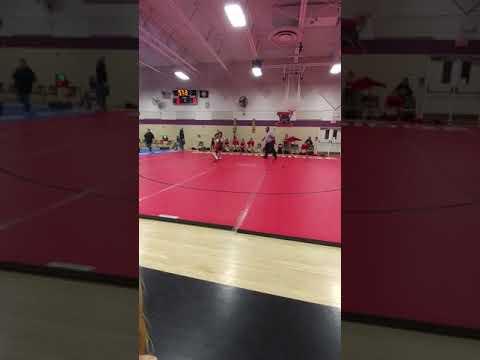 Bo Ice Jr 1st match at Breckenridge Middle School