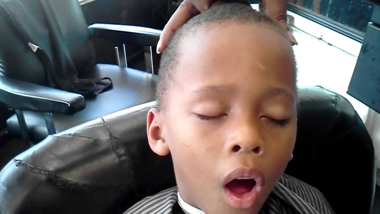chair for barber polywood adirondack kid passed out in - youtube