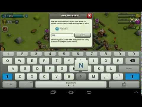 how to permanently delete clash of clans account android