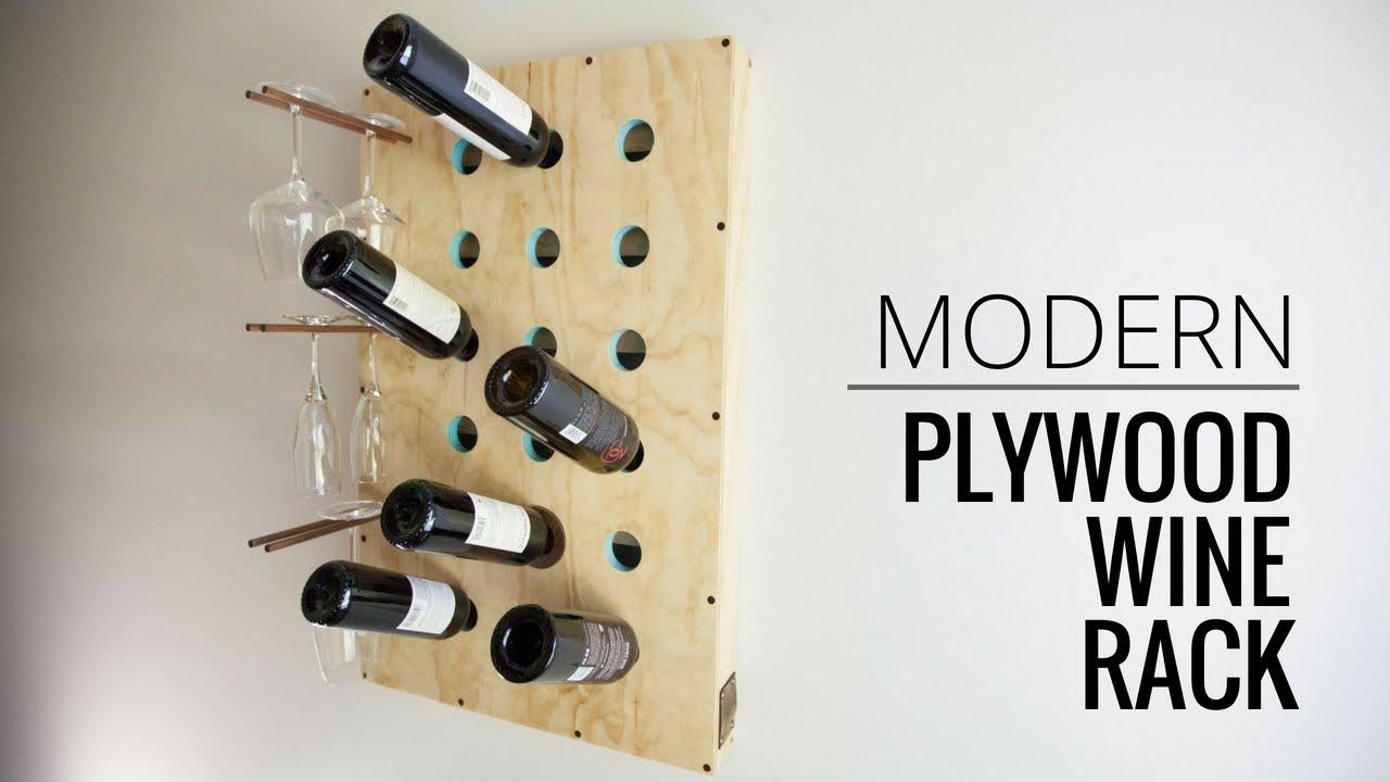modern plywood wine rack 18 steps