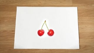 Como desenhar cerejas : Como desenhar frutas