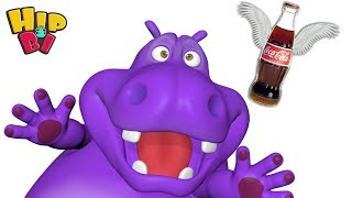 Funny Hippo Baby Flying Coca Cola Toys For Kids Hip Bi